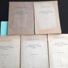 Libros antiguos: ESCUELA ESPAÑOLA DE ARQUEOLOGÍA E HISTORIA EN ROMA. 5 TOMOS (J.A.E.I.C. 1912-24) SIN USAR. Lote 168491248