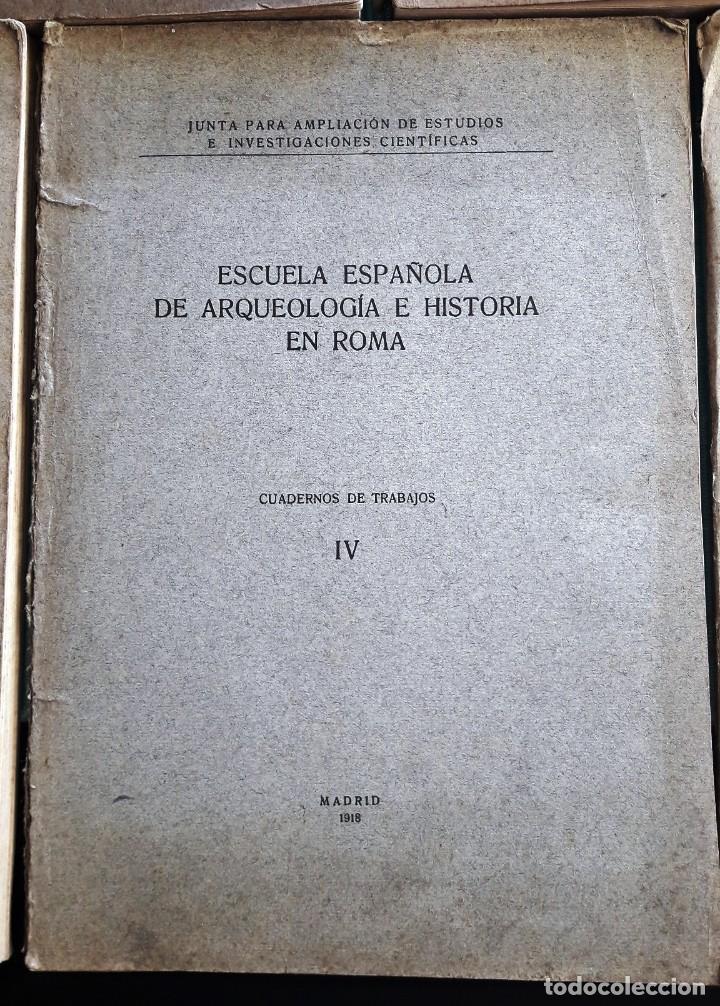 Libros antiguos: ESCUELA ESPAÑOLA DE ARQUEOLOGÍA E HISTORIA EN ROMA. 5 TOMOS (J.A.E.I.C. 1912-24) SIN USAR - Foto 3 - 168491248