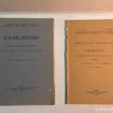 Libros antiguos: MONTE SANTA TECLA, MEMORIA DE LOS AÑOS 1914 A 1920 Y MEMORIA DE LOS TRABAJOS REALIZADOS EN 1922-1923. Lote 170352120