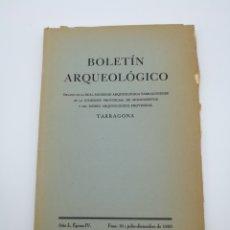 Libros antiguos: BOLETÍN ARQUEOLÓGICO JULIO DICIEMBRE 1950. Lote 171363832