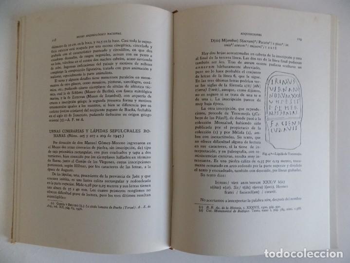 Libros antiguos: LIBRERIA GHOTICA. ADQUISICIONES DEL MUSEO ARQUEOLÓGICO NACIONAL.1940-1945. 1947. FOLIO.MUY ILUSTRADO - Foto 4 - 171627834