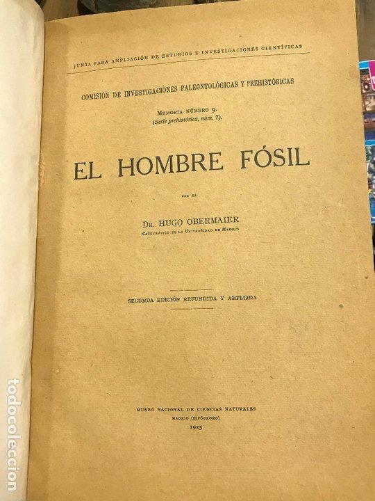 Libros antiguos: 4 en 1 - hombre fosil, horreos y palafitos, estelas discoideas, necropoli de Ibiza - obermaier vives - Foto 2 - 172588714
