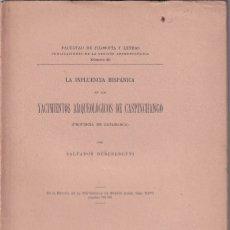 Libros antiguos: SALVADOR DEBENEDETTI: YACIMIENTOS ARQUEOLÓGICOS DE CASPINCHANGO, CATAMARCA, ARGENTINA. 1921. Lote 172671790