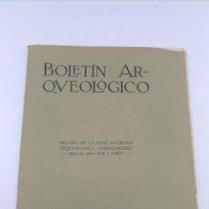 Libros antiguos: BOLETÍN ARQUEOLÓGICO DE TARRAGONA ENERO FEBRERO 1915. Lote 175227658