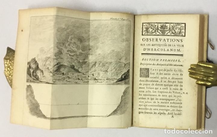 Libros antiguos: OBSERVATIONS SUR LES ANTIQUITÉS DE LA VILLE DHERCULANUM. Avec quelques reflexions sur la Peinture & - Foto 2 - 123176459