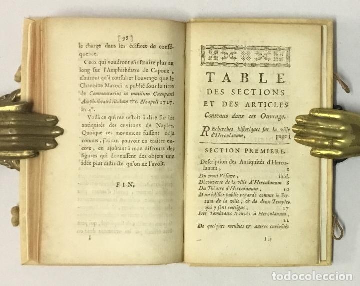 Libros antiguos: OBSERVATIONS SUR LES ANTIQUITÉS DE LA VILLE DHERCULANUM. Avec quelques reflexions sur la Peinture & - Foto 7 - 123176459