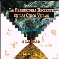 Libros antiguos: LA PREHISTORIA RECIENTE EN LAS CINCO VILLAS: EJEA DE LOS CABALLEROS,SADABA,TAUSTE,UNCASTILLO Y SOS... Lote 178316523