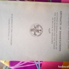 Libros antiguos: ABSTRACTS OF DISSERTATIONS 1936. Lote 178813350