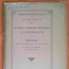 Libros antiguos: LE CONGRÈS D'ARCHÉOLOGIE PRÉHISTORIQUE A COPENHAGUE. AÑO 1869. DISCOURS PAR EUG. M.O. DOGNÉE.. Lote 181395026
