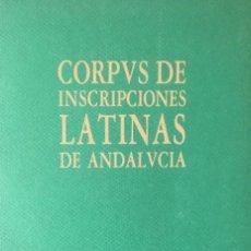Libros antiguos: INSCRIPCIONES LATINAS DE ANDALUCÍA: HUELVA. . Lote 190037508