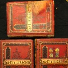 Libros antiguos: LA CIVILIZACIÓN 1881, 3 TOMOS. PELEGRÍN CASABO Y PAGES. MUY ILUSTRADO, CROMOLITOGRAFÍAS. Lote 191313582