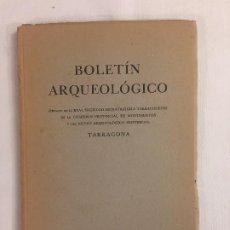 Libros antiguos: BOLETIN ARQUEOLÓGICO REAL SOCIEDAD ARQUEOLÓGICA TARRACONENSE FASC. 33: ENERO-MARZO DE 1951. Lote 192068838