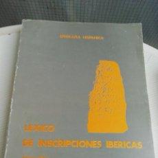 Libros antiguos: LÉXICO DE INSCRIPCIONES IBÉRICAS. Lote 193792866