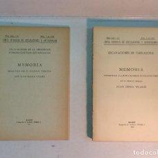 Libros antiguos: JUAN SERRA Y VILARÓ: EXCAVACIONES EN TARRAGONA. 1930 Y 1932. Lote 216014608