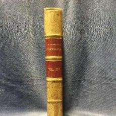 Libros antiguos: O ARCHEOLOGO PORTUGUES VOL XIV 1909 ENCUADERNADO PLENA PIEL MUSEO ETNOGRAFICO PORTUGUES 25X17CMS. Lote 196295286