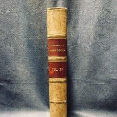 Libros antiguos: O ARCHEOLOGO PORTUGUES VOL XV 1910 ENCUADERNADO PLENA PIEL MUSEO ETNOGRAFICO PORTUGUES 25X17CMS. Lote 196295557