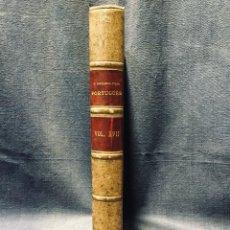 Libros antiguos: O ARCHEOLOGO PORTUGUES VOL XVII 1912 ENCUADERNADO PLENA PIEL MUSEO ETNOGRAFICO PORTUGUES 25X17CMS. Lote 196295692
