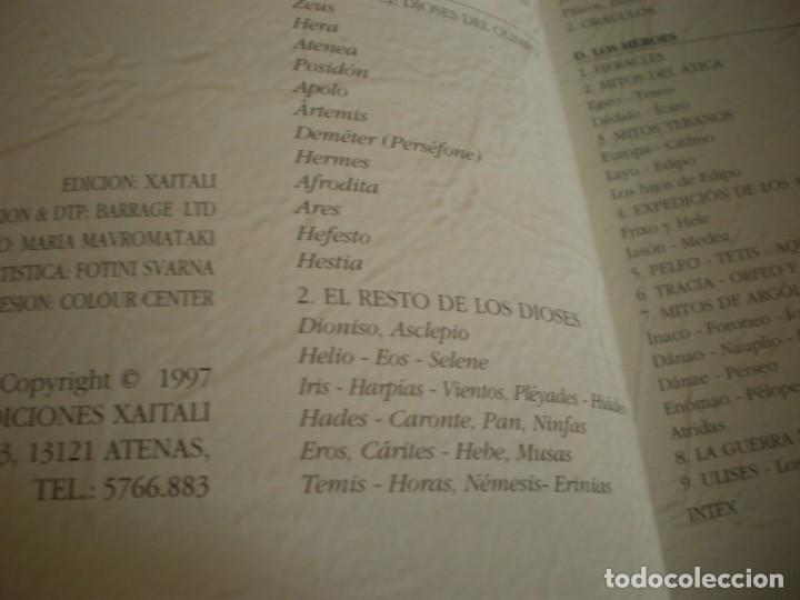 Libros antiguos: LIBRO SOBRE MITOLOGIA GRIEGA EN ESPAÑOL EN PERFECTO ESTADO. - Foto 10 - 196609443