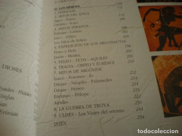 Libros antiguos: LIBRO SOBRE MITOLOGIA GRIEGA EN ESPAÑOL EN PERFECTO ESTADO. - Foto 12 - 196609443