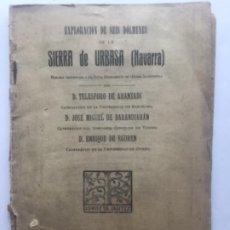 Libros antiguos: EXPLORACION SEIS DOLMENES DE LA SIERRA DE URBASA NAVARRA - 1923 - ARANZADI BARANDIARAN EGUREN - 32+X. Lote 204056345