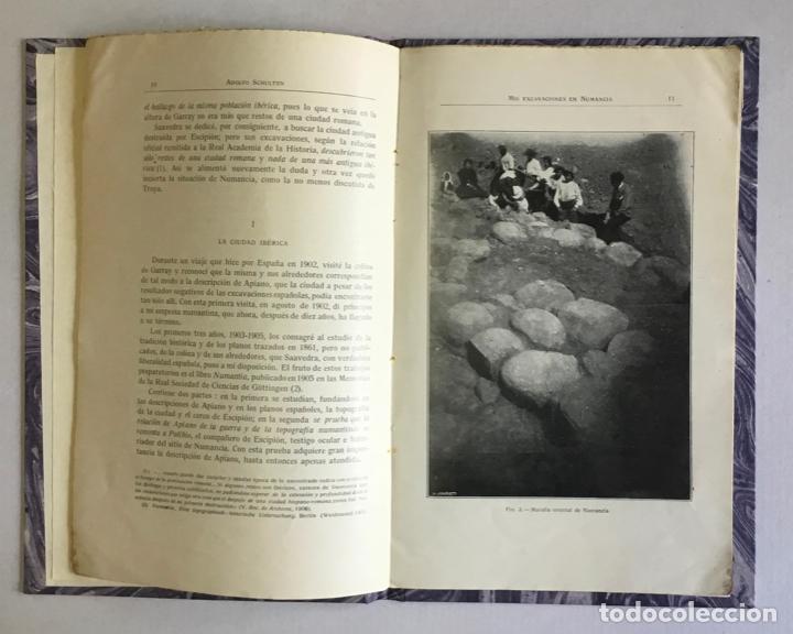 Libros antiguos: MIS EXCAVACIONES EN NUMANCIA. 1905-1912. - SCHULTEN, Adolfo. - Foto 2 - 207829872