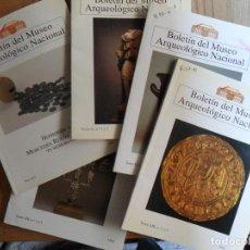 Libros antiguos: LOTE DE CINCO NUMEROS DEL BOLETÍN DEL MUSEO ARQUEOLÓGICO NACIONAL (1992-1996). Lote 210635582