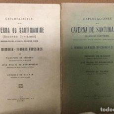 Libros antiguos: EXPLORACIONES DE LA CAVERNA DE SANTIMAMIÑE - 1ª Y 2ª MEMORIA - 1925 Y 1931 - 50P+114P +FIG Y LAMINAS. Lote 223951641