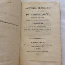 Libros antiguos: 9 OBRAS EN UN VOL.NOUVELLES RECHERCHES SUR UN BAS-RELIEF DE MEDYNET-ABOU ,1820 RARÍSIMO. Lote 224107832