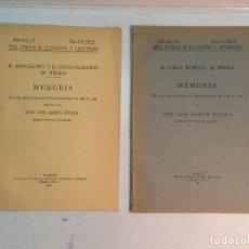 Livros antigos: JOSÉ RAMÓN MÉLIDA: MEMORIAS DE LAS EXCAVACIONES EN MÉRIDA, PERIODOS 1919-1920 Y 1920 A 1925. Lote 224393840