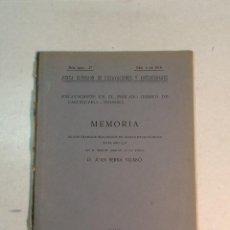 Libros antiguos: JOSÉ PEREZ DE BARRADAS: YACIMIENTOS PALEOLÍTCOS DEL VALLE MANZANARES. MEMORIA 1923-24 (1924). Lote 224394235