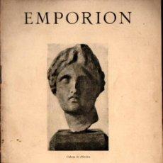 Libros antiguos: BOSCH GIMPERA Y SERRA RÀFOLS : EMPORION (1929). Lote 224561925