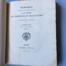 Libros antiguos: LE SYLLABAIRE ASSYRIEN, MEMOIRES PRESENTES PAR DIVERS SAVANTS A L'ACADEMIE DES INSCRIPTIONS 1873. Lote 224698462
