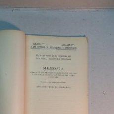 Livros antigos: JOSÉ PÉREZ DE BARRADAS: EXCAVACIONES EN LA COLONIA DE SAN PEDRO ALCÁNTARA (MÁLAGA)(1930). Lote 238148025