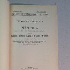 Libros antiguos: EXCAVACIONES EN TOLEDO. MEMORIA DE LOS TRABAJOS EFECTUADOS EN EL CIRCO ROMANO (1930). Lote 238694855