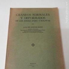 Libros antiguos: CRANEOS NORMALES Y DEFORMADOS DE LOS ANDES ANTROPOLOGIA MUY RARO. Lote 246427085