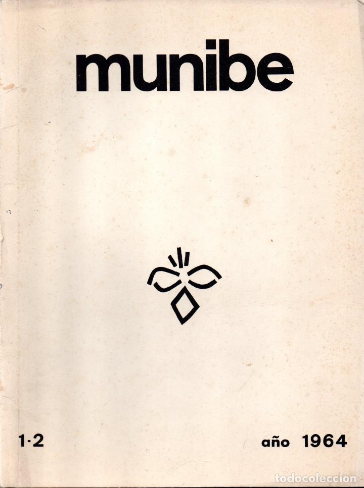 Libros antiguos: 10 TOMOS REVISTA MUNIBE CIENCIAS NATURALES DE PAIS VASCO Y NAVARRA AÑOS 1663 AL 1976 - Foto 13 - 248006560