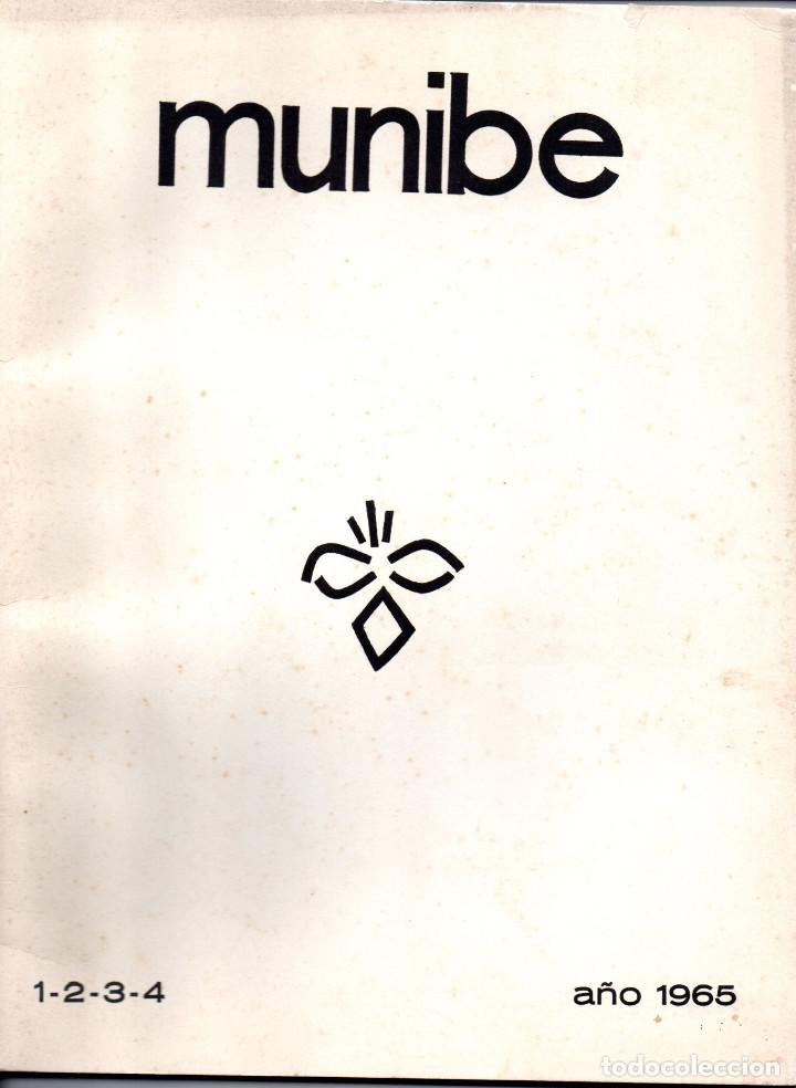 Libros antiguos: 10 TOMOS REVISTA MUNIBE CIENCIAS NATURALES DE PAIS VASCO Y NAVARRA AÑOS 1663 AL 1976 - Foto 14 - 248006560