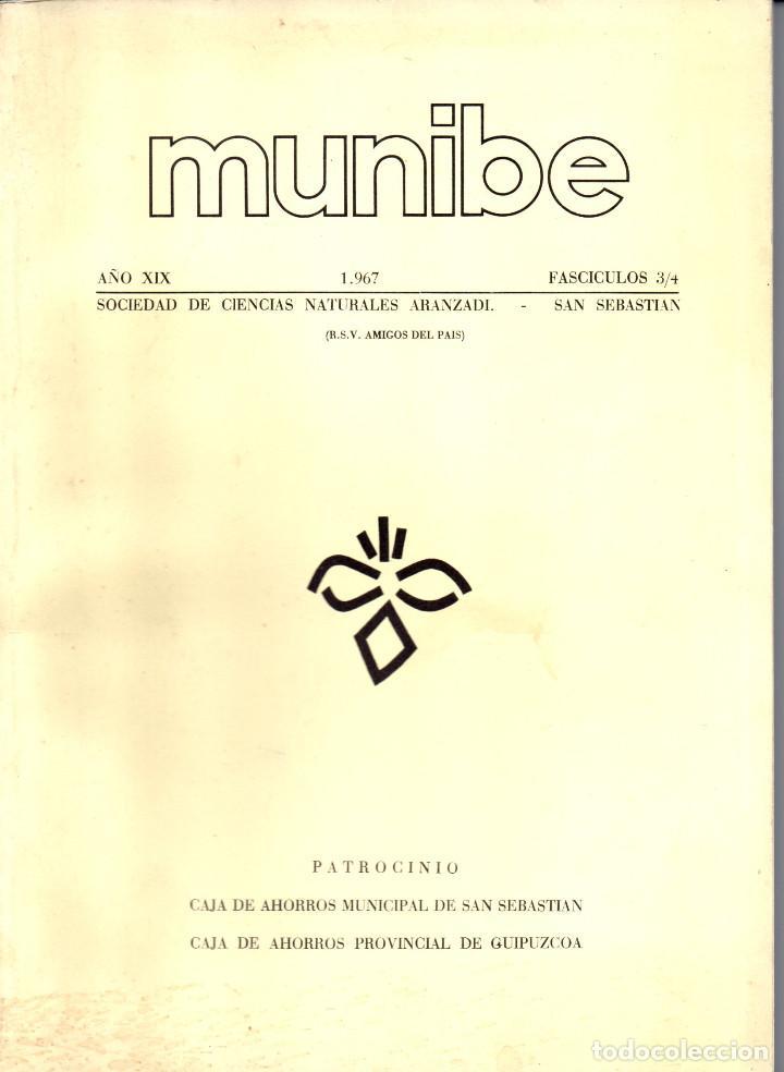 Libros antiguos: 10 TOMOS REVISTA MUNIBE CIENCIAS NATURALES DE PAIS VASCO Y NAVARRA AÑOS 1663 AL 1976 - Foto 15 - 248006560