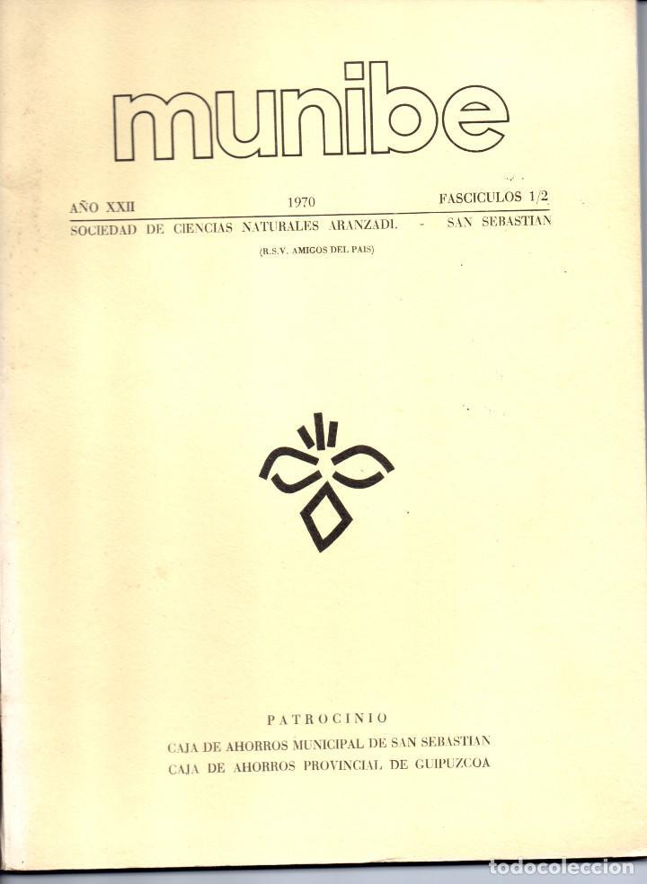 Libros antiguos: 10 TOMOS REVISTA MUNIBE CIENCIAS NATURALES DE PAIS VASCO Y NAVARRA AÑOS 1663 AL 1976 - Foto 16 - 248006560