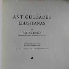 Libros antiguos: ANTIGÜEDADES EBUSITANAS, CARLOS ROMÁN. BARCELONA, 1913.. Lote 264258504