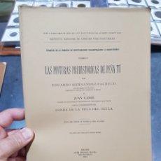Libros antiguos: LIBRO LAS PINTURAS PREHISTÓRICAS DE PEÑA TU ZONA RIBADESELLA ASTURIAS CONDE SELLA MADRID 1914. Lote 269281933