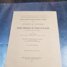Libros antiguos: LIBRO PINTURAS PREHISTÓRICAS DEL EXTREMO SUR DE ESPAÑA 1914. Lote 271371053