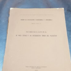 Libros antiguos: LIBRO NOMENCLATURA DE INSTRUMENTOS TÍPICOS DEL PALEOLÍTICO 1916. Lote 271371873