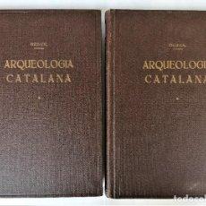 Libros antiguos: II TOMOS,OBRA COMPLETA,ARQUEOLOGIA CATALUÑA, AÑO 1933,SAGRADA.AMPURIAS,MENORCA,TEMPLOS,REGALO LIBRO. Lote 290390148