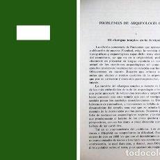 Libros antiguos: TOVAR, ANTONIO. PROBLEMAS DE ARQUEOLOGÍA GRIEGA: EL «ANTIGUO TEMPLO» EN LA ACRÓPOLIS. 1935.. Lote 294449313