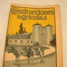 Libros antiguos: CONSTRUCCIONES AGRICOLAS, INGENIERIA,SANIDAD Y ARQUITECTURA DE LAS MISMAS,EN GENERAL Y EN PARTICULAR. Lote 15722964
