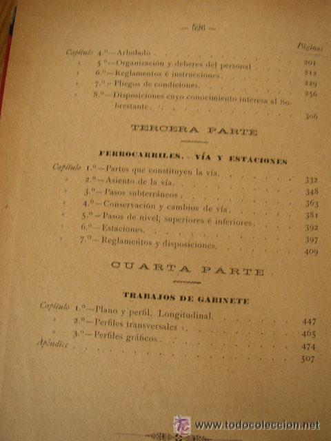 Libros antiguos: ELEMENTOS DE CARRETERAS Y FERROCARRILES(CONSTRUCCIÓN Y CONSERVACIÓN)-FRANCISCO PONTE Y BLANCO 1899 - Foto 6 - 25847899