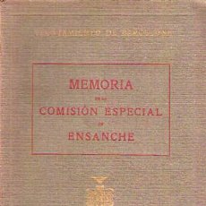 Libros antiguos: MEMORIA DE LA COMISIÓN ESPECIAL DE ENSANCHE / 1927. Lote 27589410