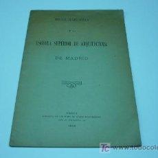 Libros antiguos: ARQUITECTURA-REGLAMENTO. Lote 21057363