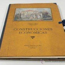 Libros antiguos: CONSTRUCCIONES ECONÓMICAS, CARDENAL PUJALS ARQUITECTO, BARCELONA 1929. 35X27 CM.. Lote 24755087